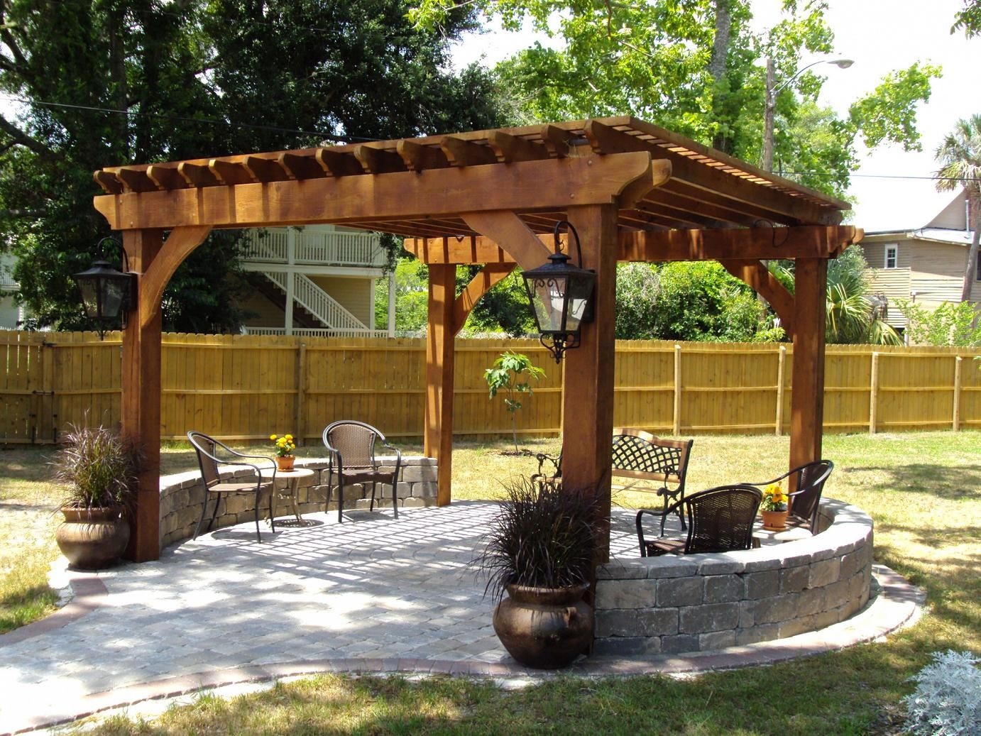 Outdoor Pergolas-Sugar Land TX Landscape Designs & Outdoor Living Areas-We offer Landscape Design, Outdoor Patios & Pergolas, Outdoor Living Spaces, Stonescapes, Residential & Commercial Landscaping, Irrigation Installation & Repairs, Drainage Systems, Landscape Lighting, Outdoor Living Spaces, Tree Service, Lawn Service, and more.